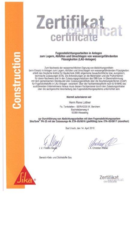 Zertifikat Rene_SIKA_3