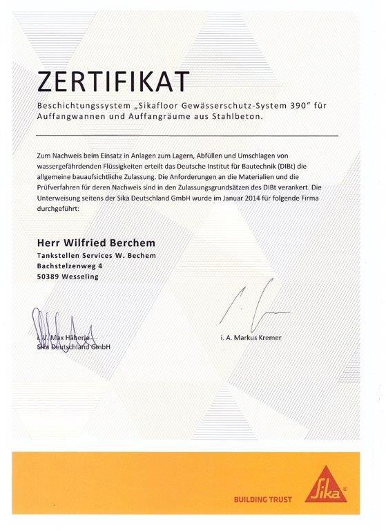 Zertifikat Wilfried_SIKA_2
