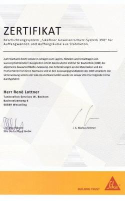 Zertifikat Rene_SIKA_2