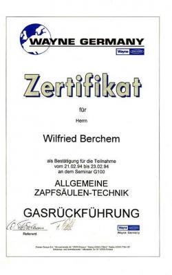 Zertifikat Wilfried_Dresser_1994