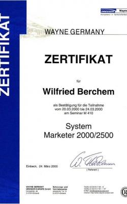 Zertifikat Wilfried_Dresser_2000