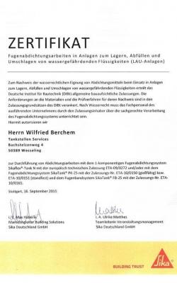 Zertifikat Wilfried_SIKA_1