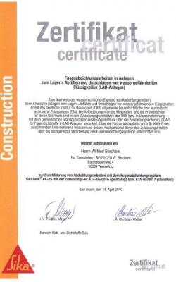Zertifikat Wilfried_SIKA_3