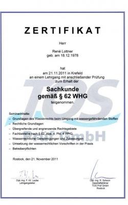 Sachkunde gemäß §64 WHG